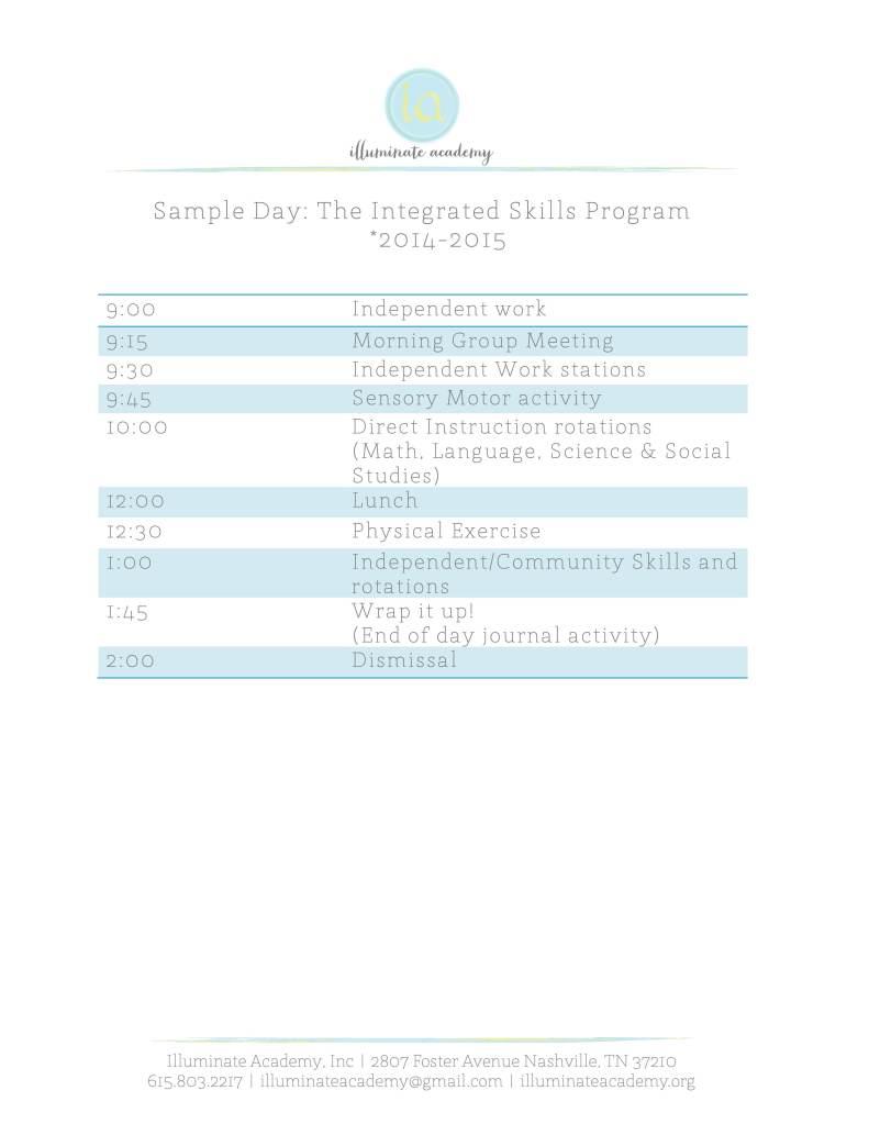 ISP Schedule